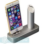 Док-станция COTEetCI Base1 Charging Cradle для Apple Watch & iPhone stand CS2045-TS Silver - Серебро - фото 21753