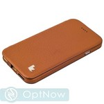 Чехол-книжка Jisoncase Genuine Leather Folio Standing Case для iPhone 6s/ 6 (4.7) JS-IP6-02C20 BROWN - Коричневый ORIGINAL - фото 22564