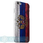 Чехол-накладка UV-print для iPhone 6s Plus/ 6 Plus (5.5) пластик (гербы и флаги) Флаг России тип 001 - фото 34976