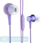 Наушники Xiaomi Mi Refreshed Piston Earphone (Pure version) с микрофоном (ZBW4357TY) Purple Фиолетовые ORIGINAL - фото 43767