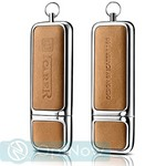Флеш-накопитель i-Carer 16Gb USB Genuine Leather Portable Flash Drive (IUP0001khaki) Хаки - фото 45428