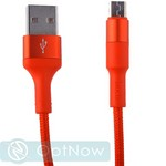 USB дата-кабель Hoco X26 Xpress charging data cable MicroUSB (1.0 м) Red - фото 53552