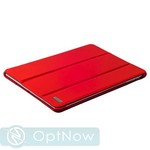 Чехол кожаный i-Carer Ultra-thin для iPad Air genuine leather series (RID501red) красный - фото 11068