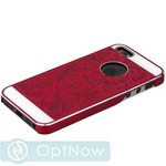 Накладка металлическая iBacks Cameo Series Aluminium Case for iPhone SE/ 5S/ 5 - Venezia (ip50144) Cabernet Red Красный - фото 12621
