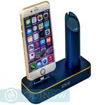 Док-станция COTEetCI Base1 Charging Cradle для Apple Watch & iPhone X/ 8 Plus/ 8/ SE/ iPod stand CS2045-BKG Blue - Темно-синия - фото 21751