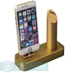 Док-станция COTEetCI Base1 Charging Cradle для Apple Watch & iPhone X/ 8 Plus/ 8/ SE/ iPod stand CS2045-CEG Gold - Золото - фото 24018
