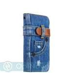 "Чехол-книжка XOOMZ для iPhone 8/ 7 (4.7"") Denim Notebook Popular (Magnetic Closure and Stand Function) (XIP742) джинсовый - фото 45544"