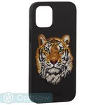 "Накладка кожаная Santa Barbara Polo&Racquet Club SAV Series для iPhone 12 mini (5.4"") Tiger-тигр - фото 66079"